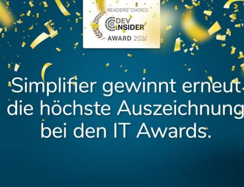 IT-Awards 2021: Zum insgesamt dritten Mal Platin für Simplifier