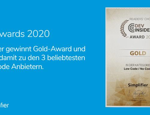 IT-Awards 2020: Simplifier erneut unter den besten drei Low-Code-Anbietern