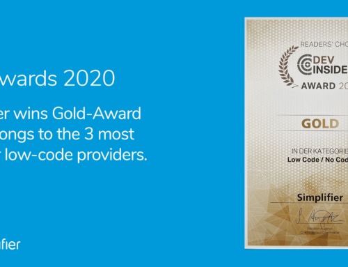 IT Awards 2020: Simplifier again voted as one of the top three low-code vendors